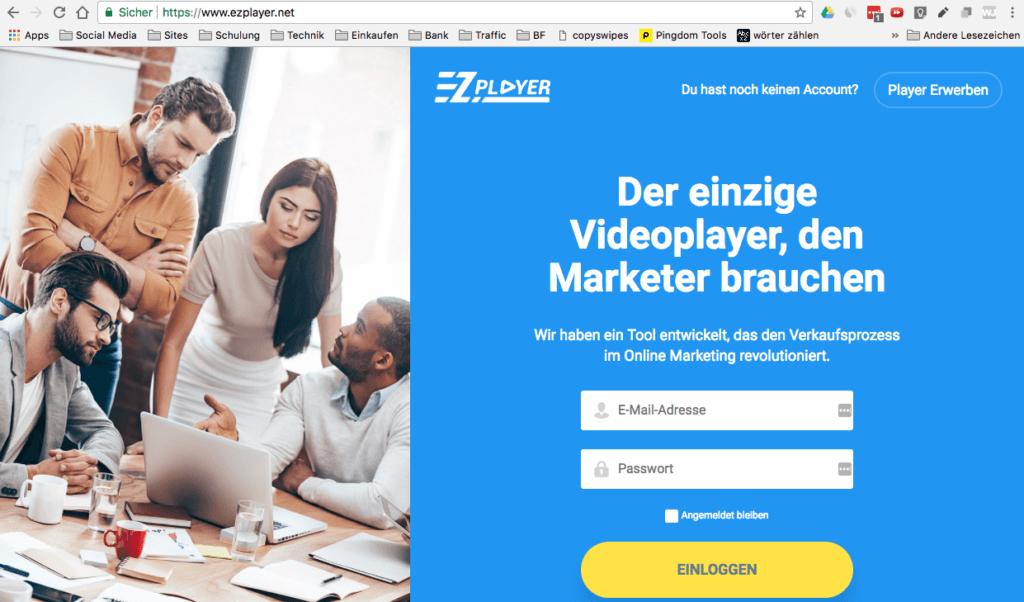 EZPlayer ist ein Marketing-Video-Player