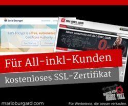 Kostenloses Ssl Zertifikat Für All Inkl Kunden In Drei Minuten