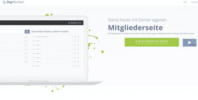 digimember wordpress membership plugin homepage